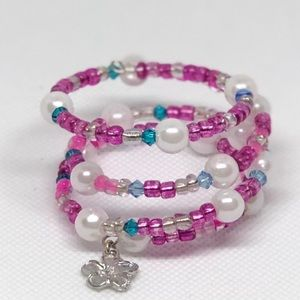 Little girls Memory wire bracelet